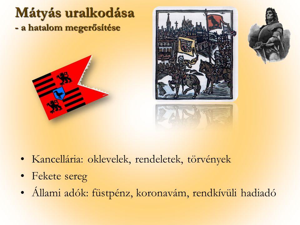 Törökök visszaszorítása a Balkánon Csehország, Szilézia, Ausztria elfoglalása 1485: Bécs elfoglalása Mátyás külpolitikája