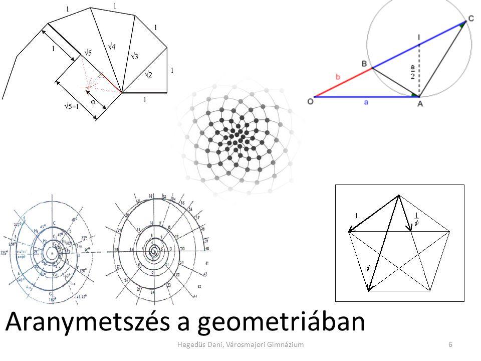 Aranymetszés a geometriában 6Hegedüs Dani, Városmajori Gimnázium