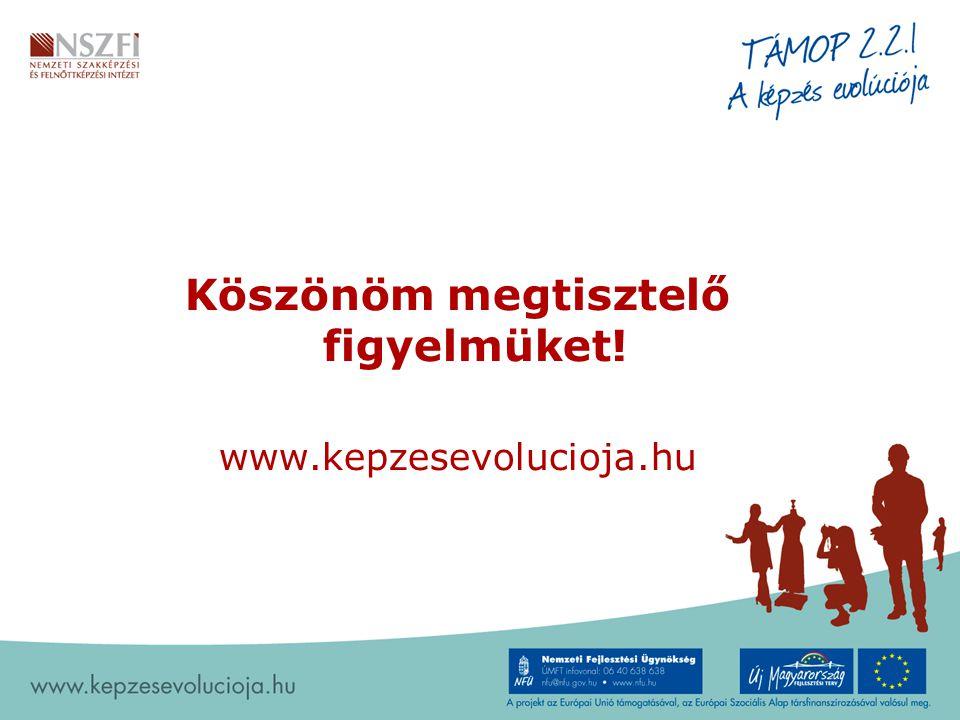 Köszönöm megtisztelő figyelmüket! www.kepzesevolucioja.hu