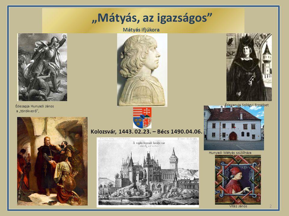 1 Mátyás ifjúkora Trónra lépése és hatalmának biztosítása Házasságai és gyermekei Mátyás és a kultúra Török elleni harc Pénzügyi reformok Mátyás király halála és hagyatéka