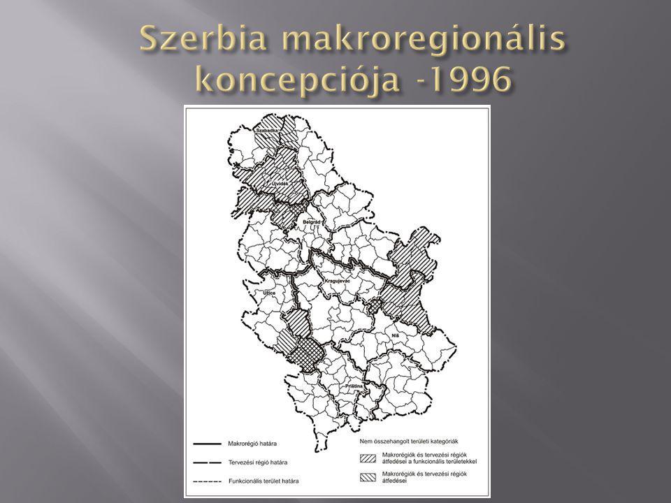 SZTT (1996) funkcionális-területi térszerkezet céljai: (a) Az irányítás ésszerűsítése; (b) A közhivatalok szervezeti felépítésének tökéletesebb összehangolása a helyi önkormányzatok érdekeivel, elvárásaival és lehetőségeivel (c) A helyi önkormányzatok tevékenységeinek és munkaprogramozásának hatékonyabb koordinációja