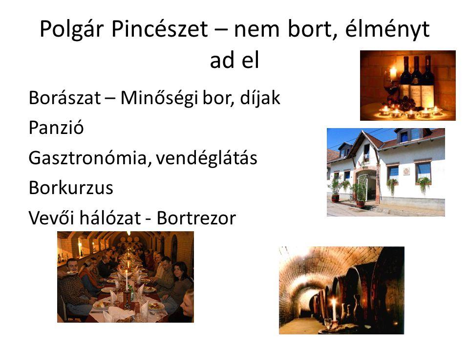 Polgár Pincészet – nem bort, élményt ad el Borászat – Minőségi bor, díjak Panzió Gasztronómia, vendéglátás Borkurzus Vevői hálózat - Bortrezor