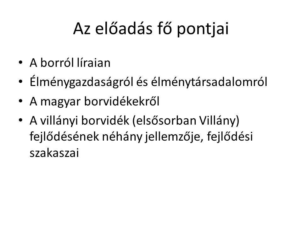 Villányi borvidék – fejlődési szakaszok III.
