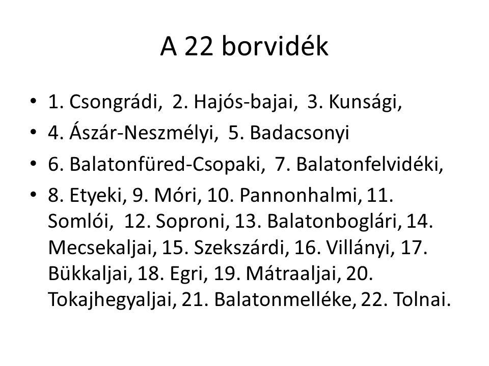 Borrégiók Magyarországon