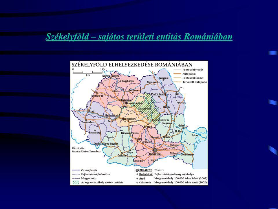 Székelyföld – sajátos területi entitás Romániában