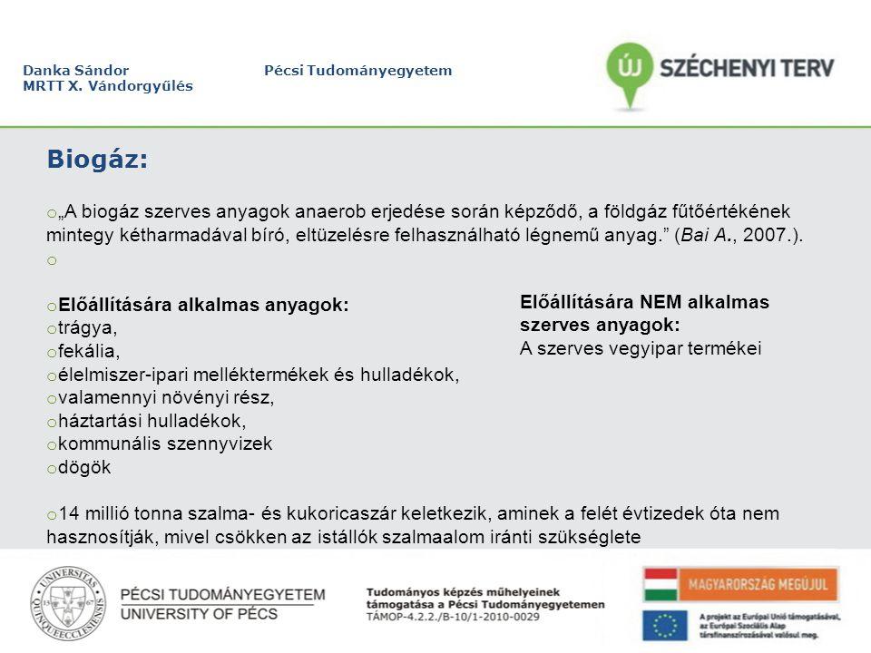 """Danka Sándor Pécsi Tudományegyetem MRTT X. Vándorgyűlés Alapanyagok árai """"önköltségi alapon:"""