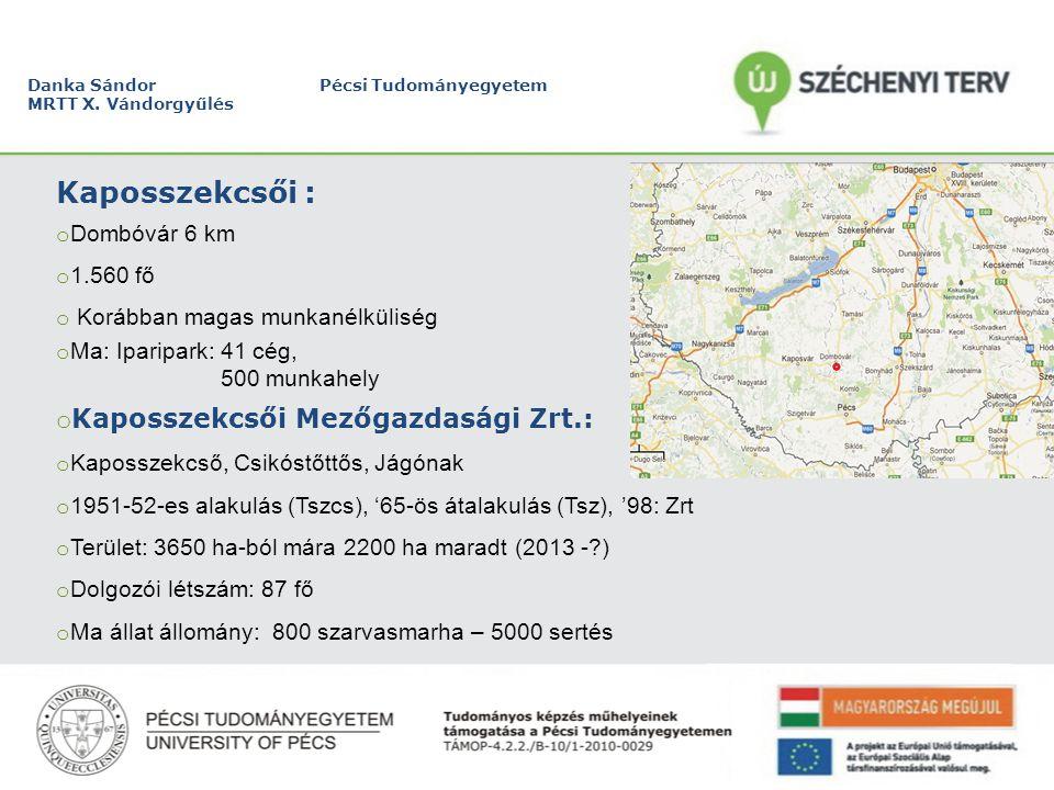 Danka Sándor Pécsi Tudományegyetem MRTT X.