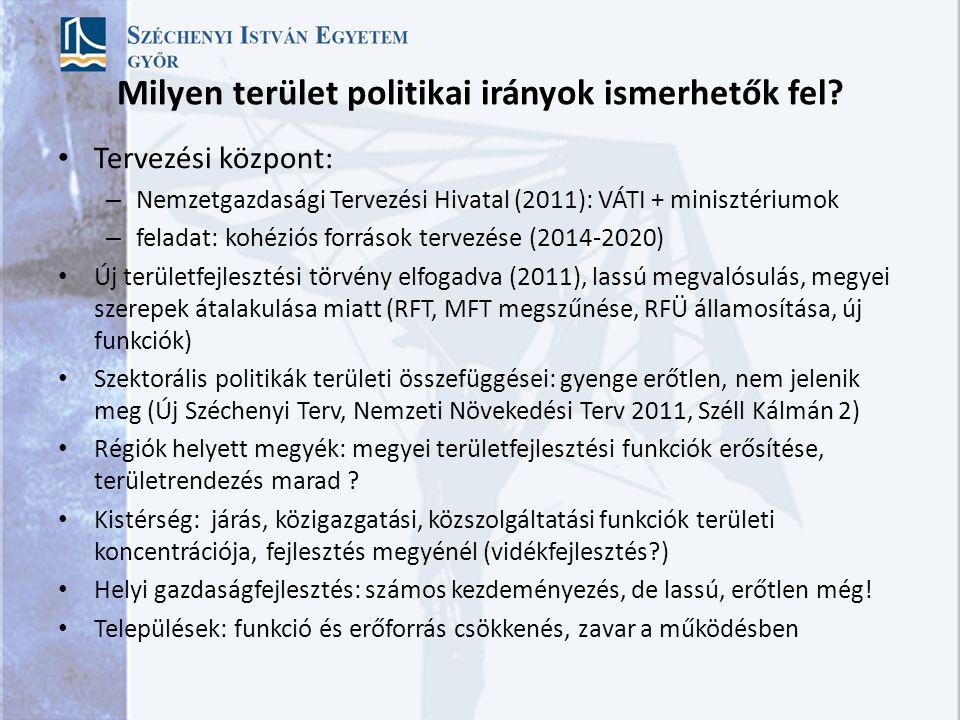 Milyen terület politikai irányok ismerhetők fel.