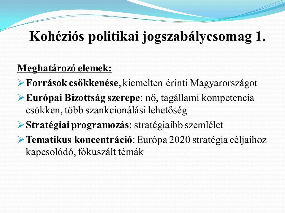 Kohéziós politikai jogszabálycsomag 1.