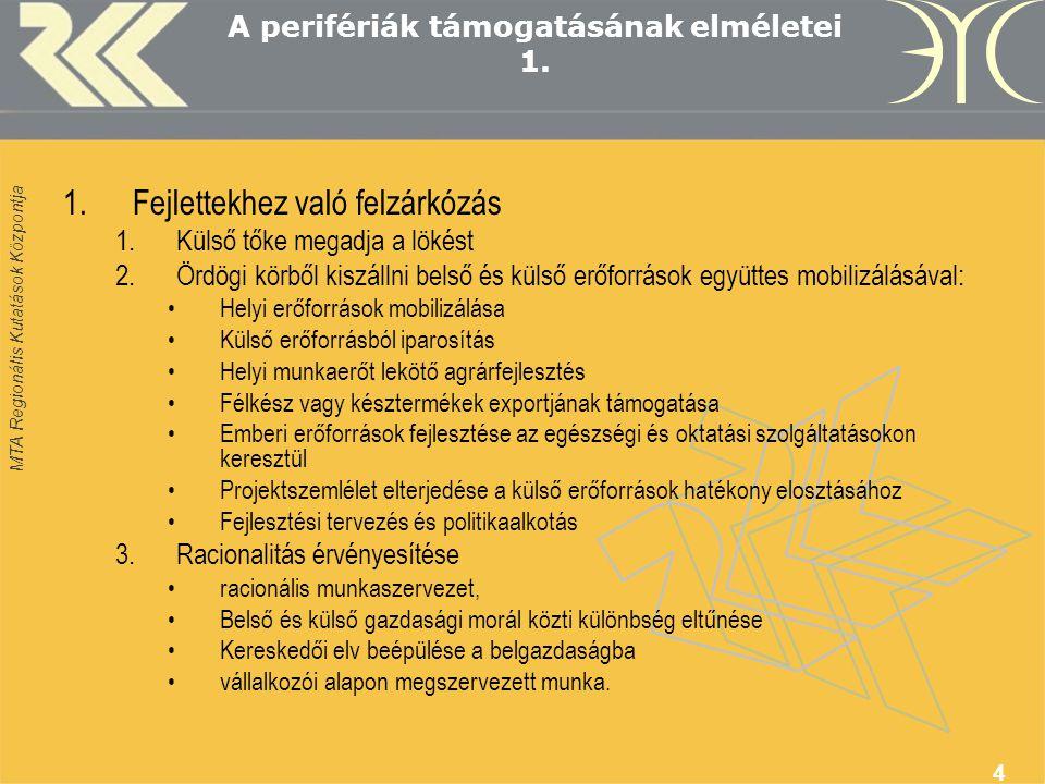 MTA Regionális Kutatások Központja 15 Dilemmák 3.