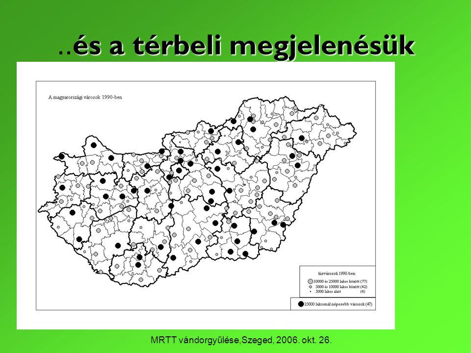 MRTT vándorgyűlése,Szeged, 2006. okt. 26. és a térbeli megjelenésük.. és a térbeli megjelenésük