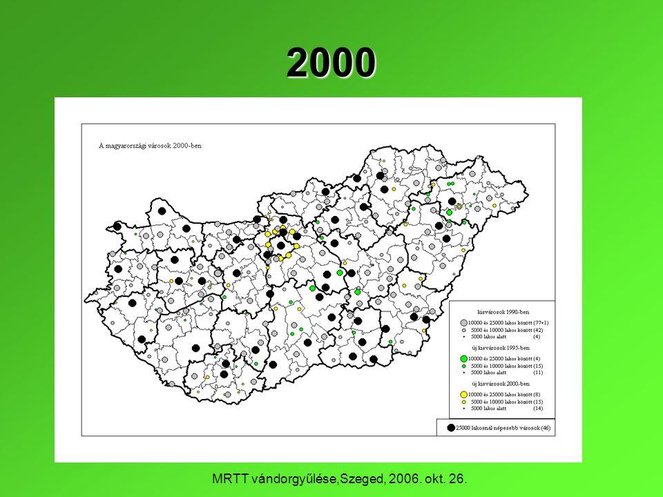 MRTT vándorgyűlése,Szeged, 2006. okt. 26. 2000