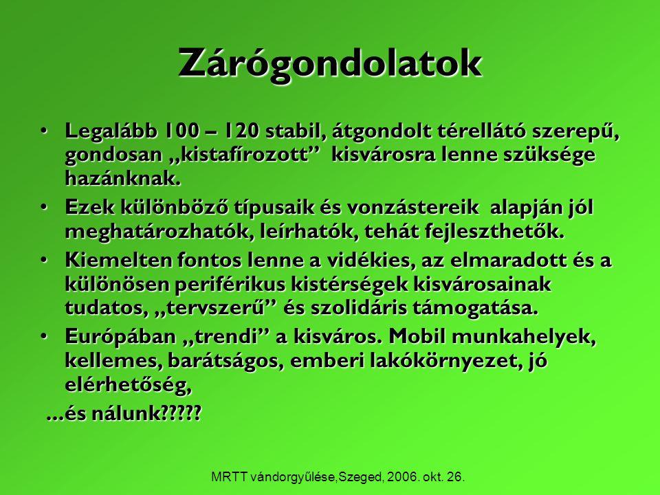MRTT vándorgyűlése,Szeged, 2006. okt. 26.