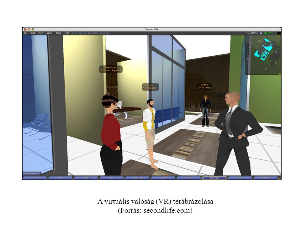 A virtuális valóság (VR) térábrázolása (Forrás: secondlife.com)
