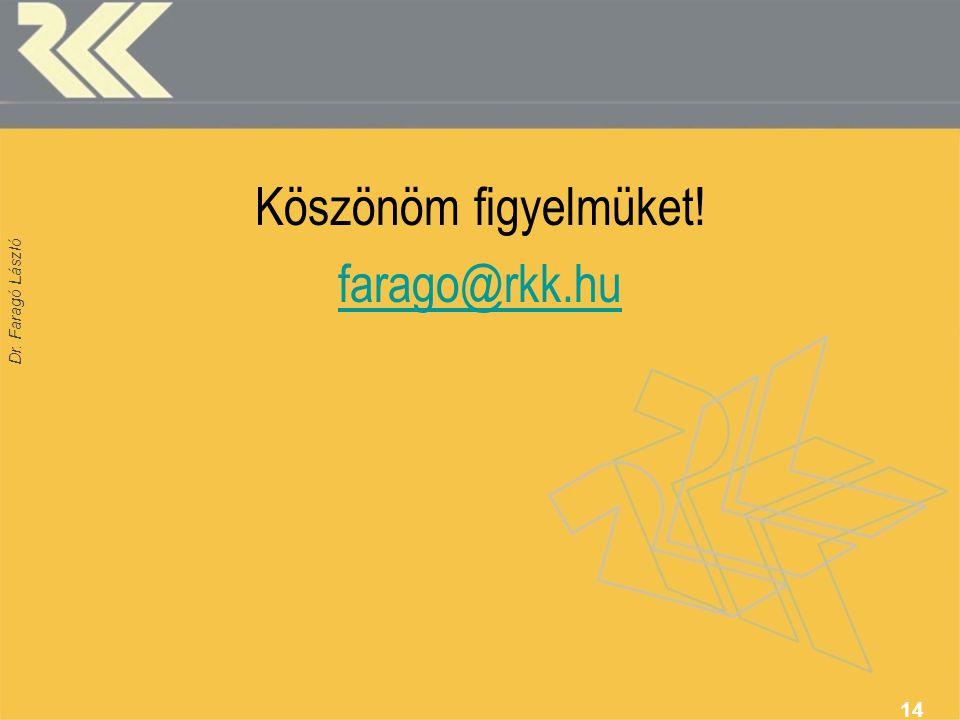 Dr. Faragó László Köszönöm figyelmüket! farago@rkk.hu 14