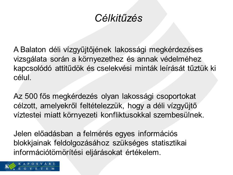 A Balaton déli vízgyűjtőjének lakossági megkérdezéses vizsgálata során a környezethez és annak védelméhez kapcsolódó attitűdök és cselekvési minták le