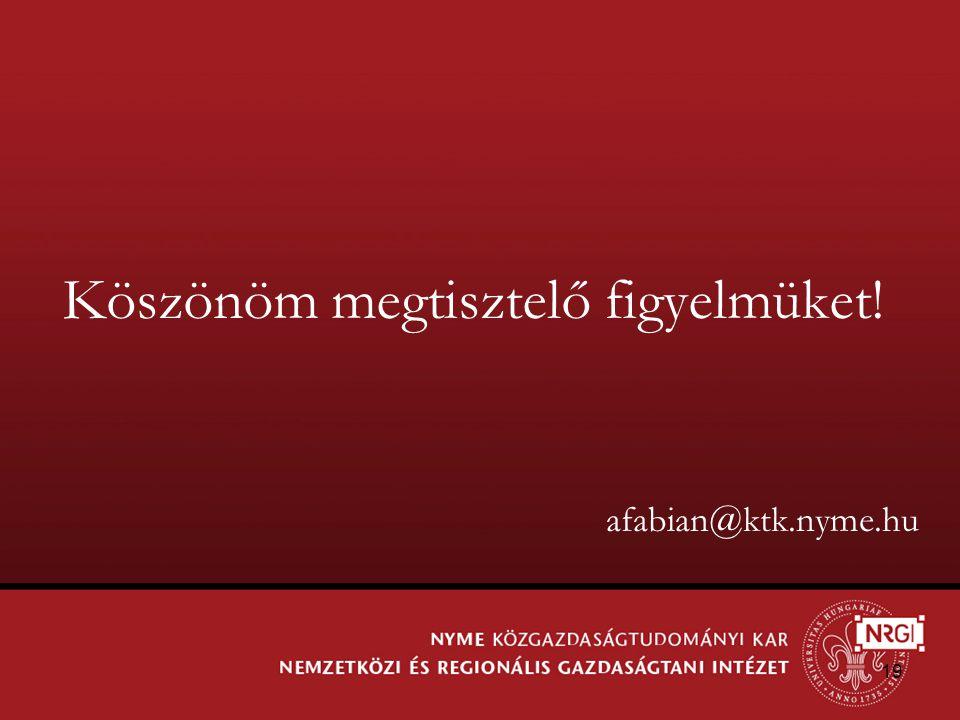 19 Köszönöm megtisztelő figyelmüket! afabian@ktk.nyme.hu