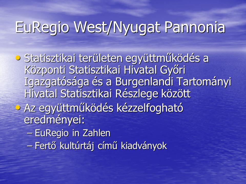 EuRegio West/Nyugat Pannonia Statisztikai területen együttműködés a Központi Statisztikai Hivatal Győri Igazgatósága és a Burgenlandi Tartományi Hivat