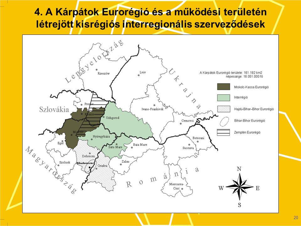 21 5.Új euroregionális szerveződések a Kárpátok Eurorégió területén  Interregio (2000.