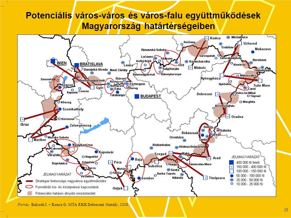 29 A vállalkozási övezetek Magyarországon Forrás: Baranyi B. 2007.