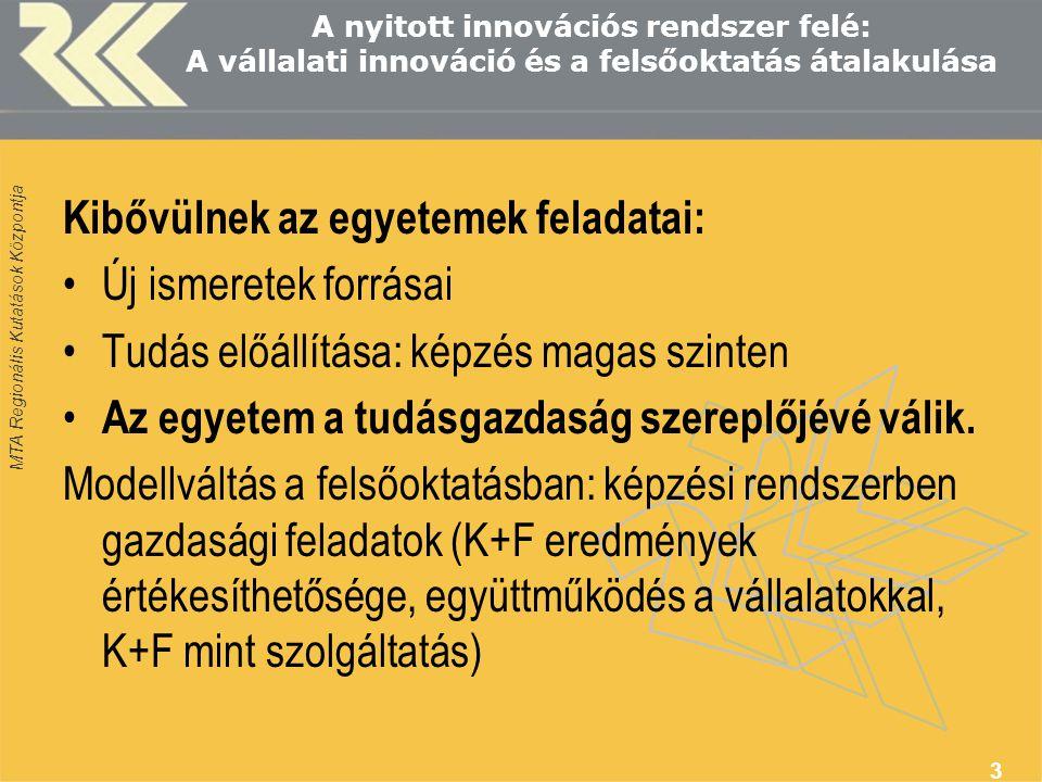 MTA Regionális Kutatások Központja 14 A témához fűződő legújabb kutatások az RKK-ban (Budapesti Osztályán) Locomotive projekt (FP6, 2005-2007).