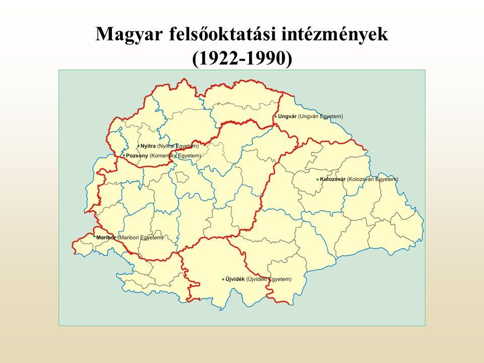 Magyar felsőoktatási intézmények (1922-1990)