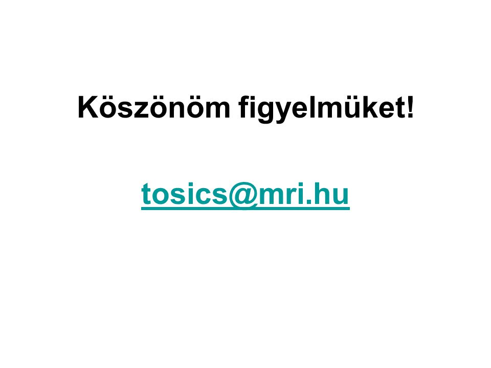 Köszönöm figyelmüket! tosics@mri.hu