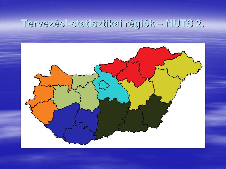 Tervezési-statisztikai régiók – NUTS 2.
