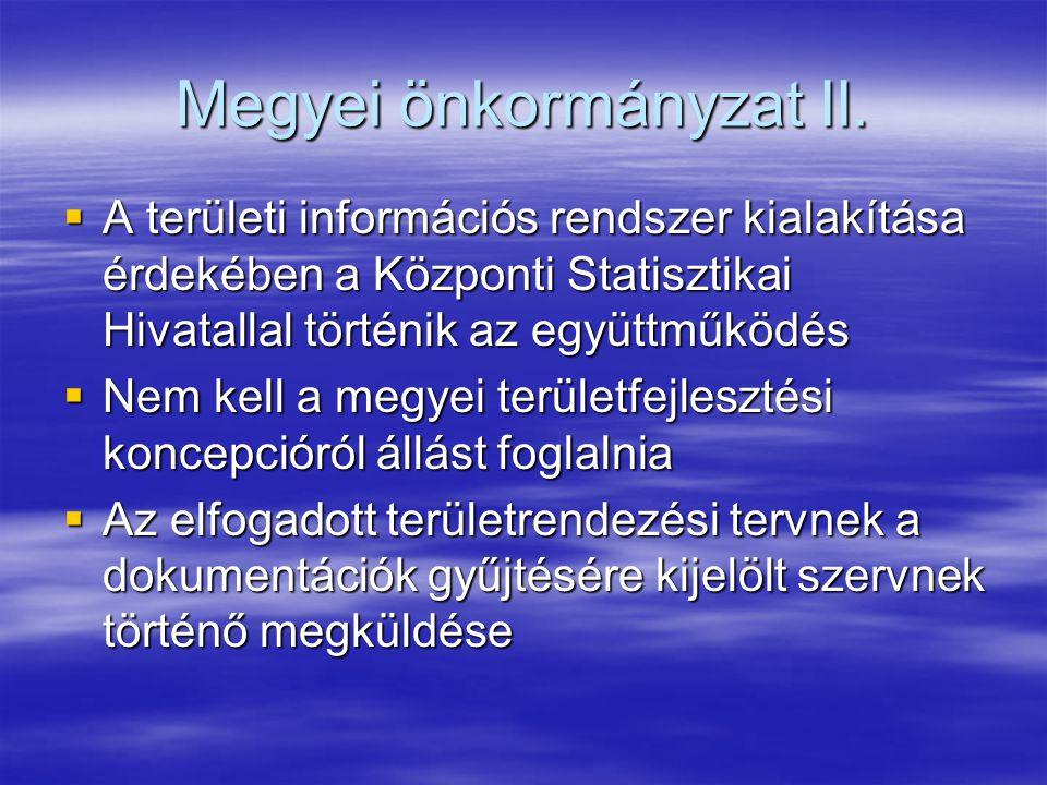 Megyei önkormányzat II.