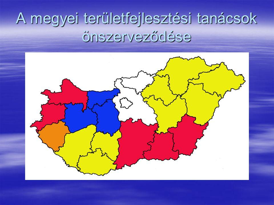 A megyei területfejlesztési tanácsok önszerveződése