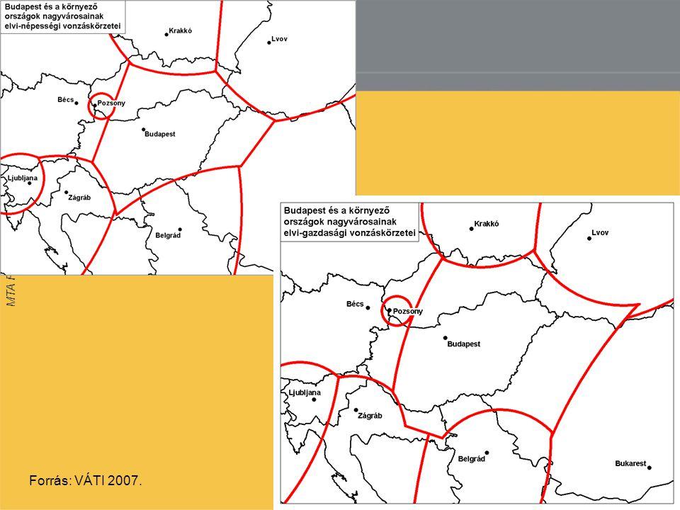 MTA Regionális Kutatások Központja 14 Forrás: VÁTI 2007.