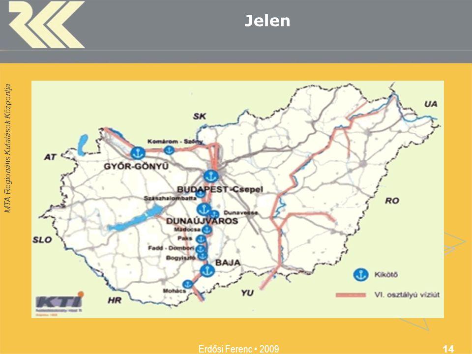 MTA Regionális Kutatások Központja Erdősi Ferenc 2009 14 Jelen