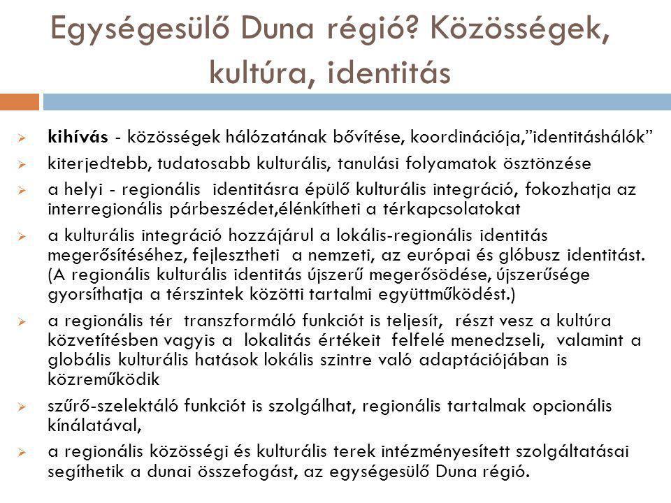 Egységesülő Duna régió.