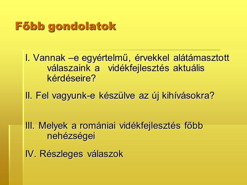 I.Általános romániai (európai) dilemmák 1. Versenyképesség vagy konvergencia.