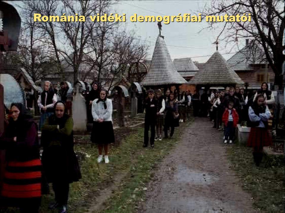 Románia vidéki demográfiai mutatói