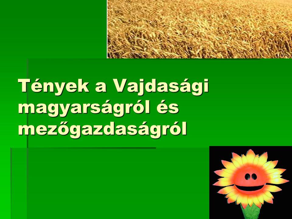 Tények a Vajdasági magyarságról és mezőgazdaságról
