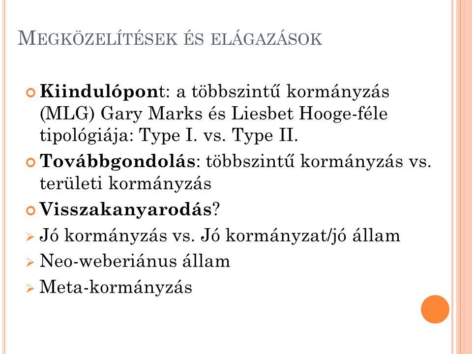 A Z MLG TÍPUSAI (H OOGHE -M ARKS,2004) I.típus II.