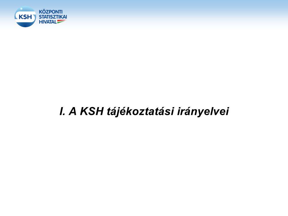 I. A KSH tájékoztatási irányelvei