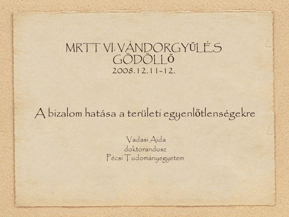 MRTT VI. VÁNDORGY Ű LÉS GÖDÖLL Ő 2008.12.11-12.