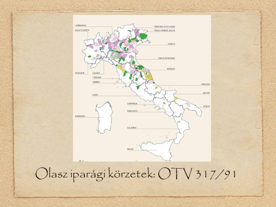 Olasz iparági körzetek: OTV 317/91