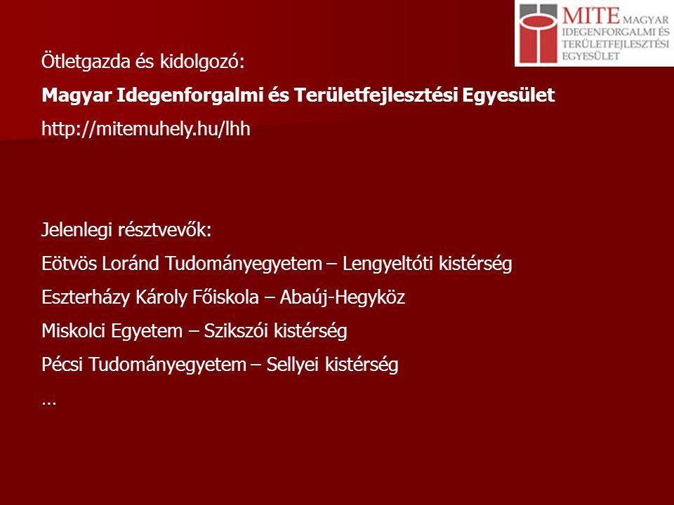 Eötvös Loránd Tudományegyetem Természettudományi Kar Földrajz- és Földtudományi Intézet (Földrajztudományi Központ) http://geogr.elte.hu Oktatás-kutatás régóta kötődik a makro/mezo/mikro szintű, magyarországi és külországi területi elemzésekhez, valamint a területfejlesztéshez 1993 óta geográfus szak, terület- és településfejlesztési ill.