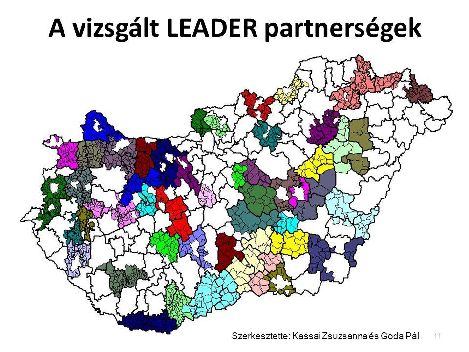 A vizsgált LEADER partnerségek 11 Szerkesztette: Kassai Zsuzsanna és Goda Pál