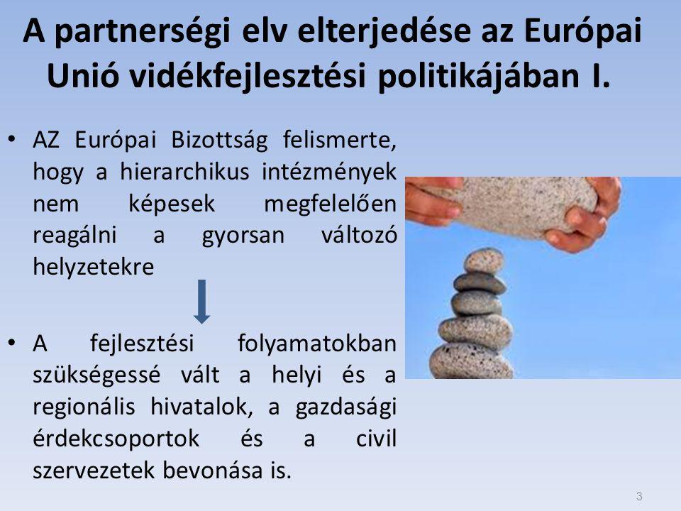 A partnerségi elv elterjedése az Európai Unió vidékfejlesztési politikájában I.