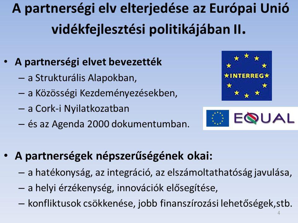 A partnerségi elv elterjedése az Európai Unió vidékfejlesztési politikájában II.