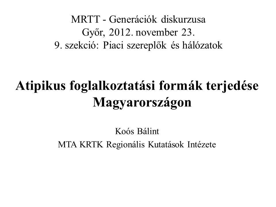 Az atipikus foglalkoztatási forma (Héthy L.