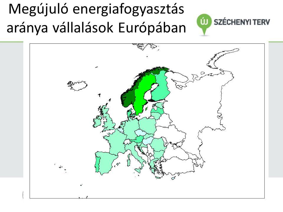 Megújuló energiafogyasztás aránya vállalások Európában