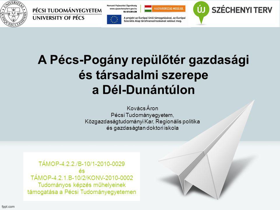 A Pécs-Pogány repülőtér gazdasági és társadalmi szerepe a Dél-Dunántúlon TÁMOP-4.2.2./B-10/1-2010-0029 és TÁMOP-4.2.1.B-10/2/KONV-2010-0002 Tudományos