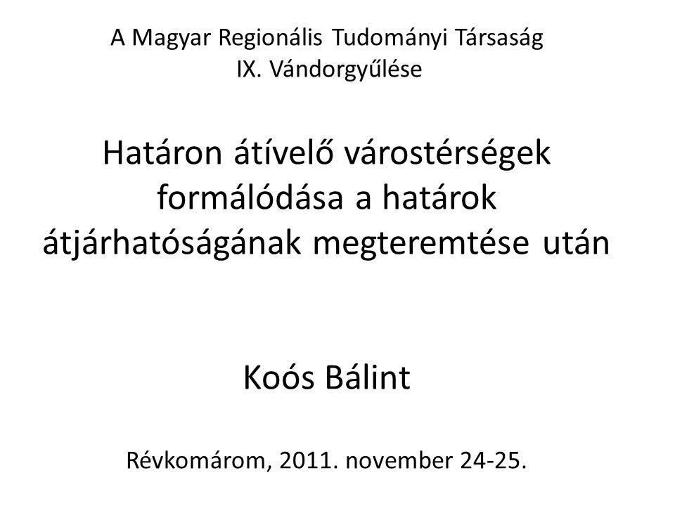 A Magyar Regionális Tudományi Társaság IX.