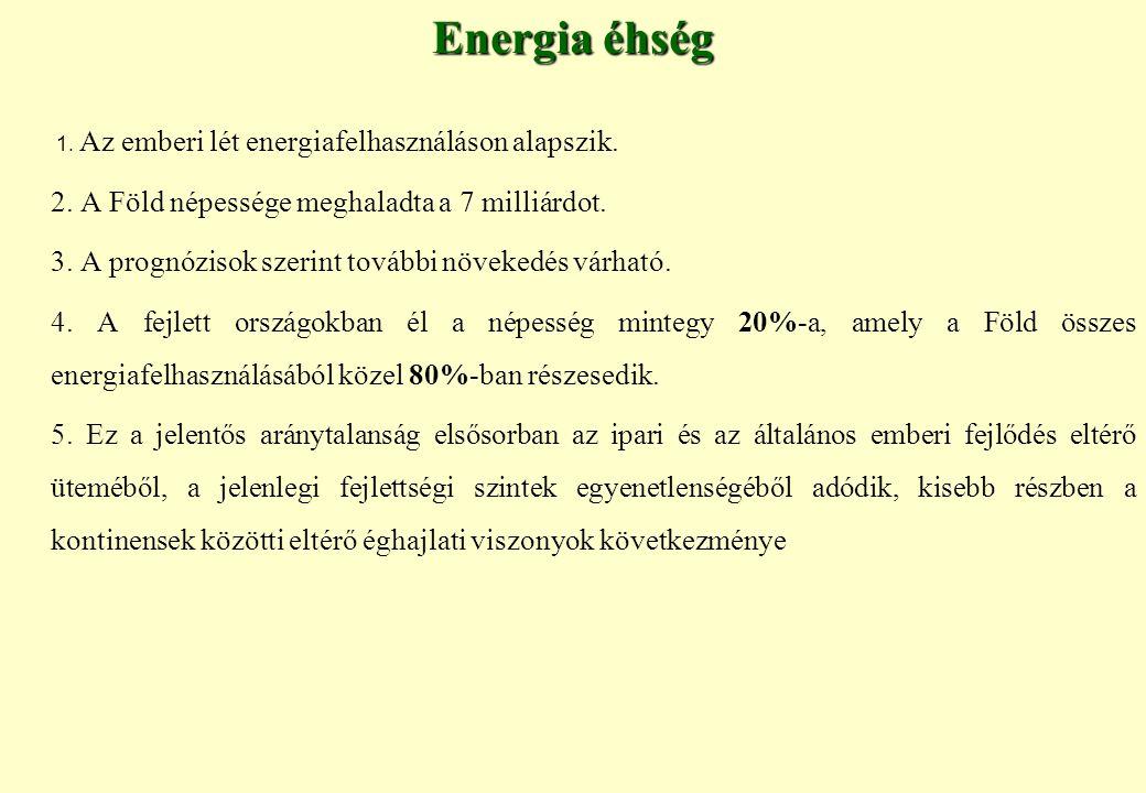 Energia éhség 1.Az emberi lét energiafelhasználáson alapszik.
