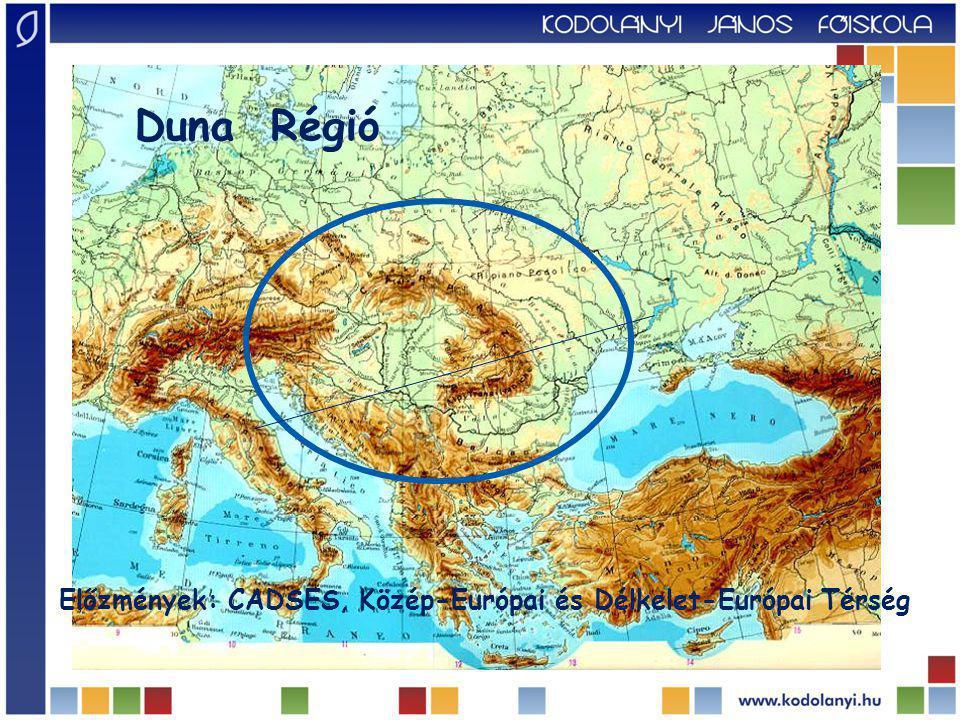 Duna Régió Előzmények: CADSES, Közép-Európai és Délkelet-Európai Térség